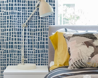 Loose Weave Painted Texture Design Wall Stencil for Bedroom Decor and DIY Wallpaper Pattern