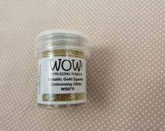 embossing powder, glitter gold