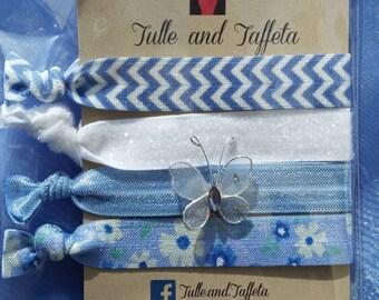 Cinderella Hair Ties - Stocking Stuffer - Princess Hair Ties - Easter Baskets - Girls Gift - Birthday Gift - Cinderella Accessories