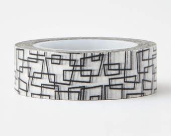 Modern Art Washi Tape - craft supplies- card making- weddings- planner stickers- life planner - decorative tape- LMT 1207