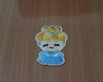 """Cinderella Iron on Patch Embroidered size 2"""" x 2 13/16"""""""