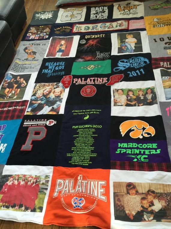 Custom, Handmade, T-Shirt Blanket, T-Shirt Quilt