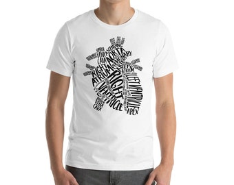 Heart anatomy Heart anatomy typography  nurse medical shirt