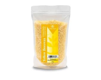 Beeswax Yellow Pastilles Pellets Granules Premium Quality, Cosmetic Grade, Triple Filtered