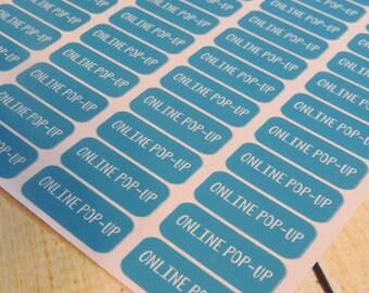 Online Pop Up planner sticker