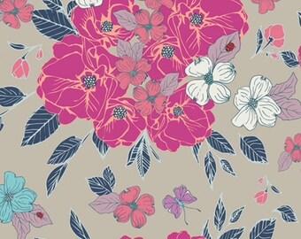 Art Gallery Flower Child Flowery Chant Wild Premium Cotton Quilting Fabric BTY