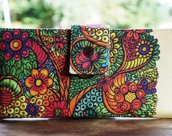 Women's wallet, Tree of life gift, tree wallet, tree gift idea, gift for mom, gift for wife, wallet for women, vegan wallet, thin wallet