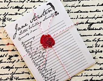 Jane Austen, Mail Tag Cards, snail mail, Pen Pals, Letter Writing, Vintage, stationery, pen pals, snail mail supply, writing letters, mail