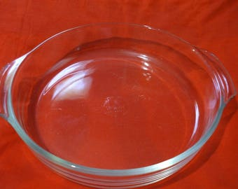 Vintage Anchor Hocking Fire King 9 Inch Roaster/Deep Dish Pie Plate Handles