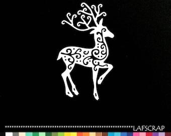 Cut out reindeer scrapbooking embellishment die cut scrap album deco