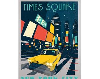 Times Square NYC Aluminum GLEAM Print