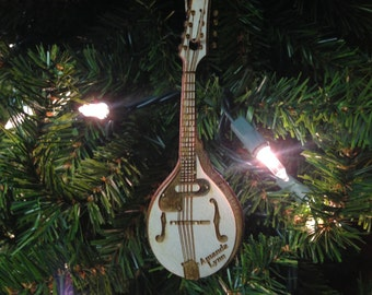 Mandolin 2 Personalized Christmas Ornament