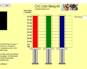 Color Mixing Software (Computer Assisted Colour)