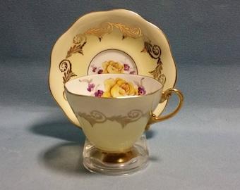 E. B. Foley Ombre Teacup and Saucer #4119
