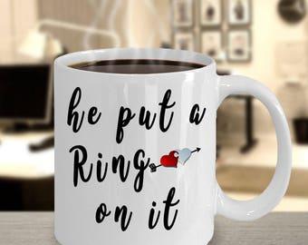 getting engaged mug, funny engagement mug, funny wedding mug, engagement gift mug, me look engaged mug, future mrs mug, WHITE 11OZ