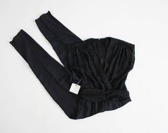 70s jumpsuit | black jumpsuit | formal jumpsuit