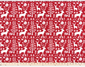 Christmas Table Runner | Reindeer Table Runner | Red Christmas Table Runner | Christmas Table Decor | Christmas Table Decor | Christmas