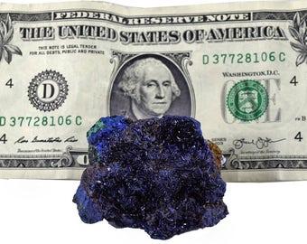 """Azurite/Malachite 2"""" x 1.5"""" x 1.5"""" - 86 grams - Gemmy Sparkling - AZU004"""
