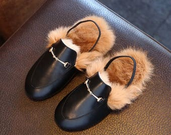 Baby gucci | gucci baby | baby shoes | baby mules | fur mules | baby fur shoes | rabbit fur