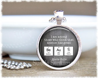Science Teacher Gift • Science Jewelry • Periodic Table • Chemistry Necklace • Science Gifts