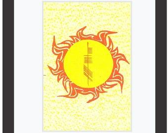 Sun (Grian) Ogham 8x10 Print