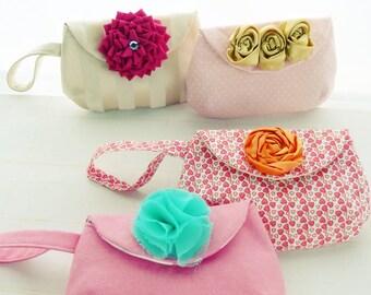 Purse Pattern - Sewing Louise handbag PDF - bridesmaid accessory / wedding purse - coin purse - clutch - Instant DOWNLOAD
