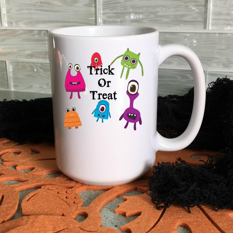 halloween mug for kids, trick or treat halloween mug, cocoa mugs