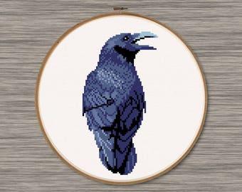 Raven - PDF Cross Stitch Pattern