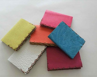 Mini Composition Book Covers, Leather Mini Comp Books, Small Leather Notebook, Refillable Notebooks, Mini Notebooks,