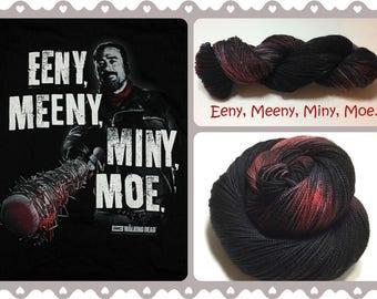 Eeny, Meeny, Miny, Moe. ~ Hand dyed yarn ~ Mom's Creation
