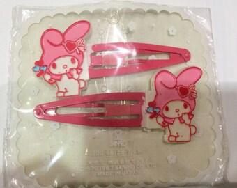 Vintage My Melody Sanrio hair pin made in Japan 1987