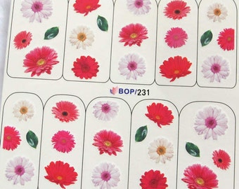 BOP-231 Nail Art Water Decal Nail Art Water Transfer Sticker DIY Nail Art