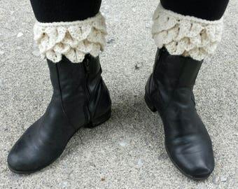 Crochet pattern - Dragon Scale boot cuffs (crocodile stitch)