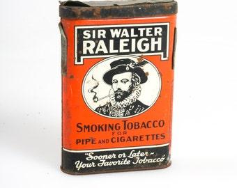 Sir Walter Raleigh Tobacco Tin Vintage
