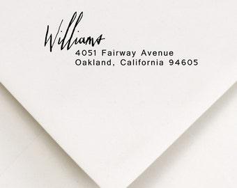 Return Address Stamp -   -  Housewarming, Bridal Shower gift - Roosevelt Design