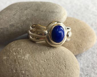 Ring-Sterling Silver with Blue Stone