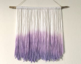 Dip Dyed Yarn Wall Hanging Tapestry Boho Decor Dyed Yarn