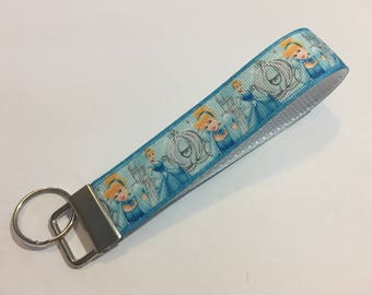 Cinderella with her Pumpkin Carriage Key Fob Keychain wristlet
