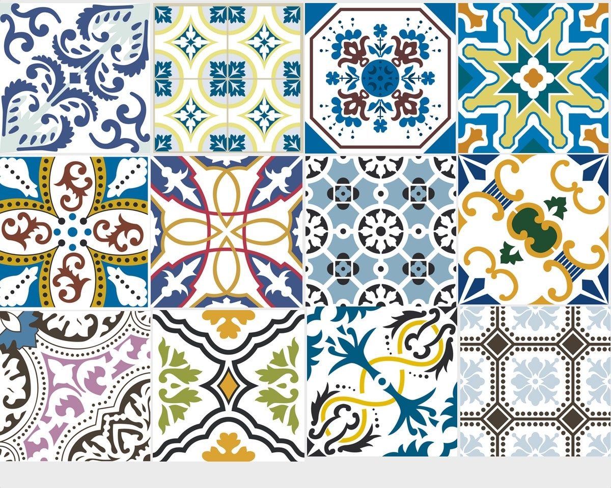 Tile sticker decals vinyl sticker waterproof tile or wallpaper zoom dailygadgetfo Image collections