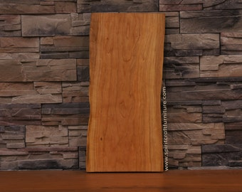 Cherry Live Edge Table Top- Finished and ready to put on your legs or one of ours. 412