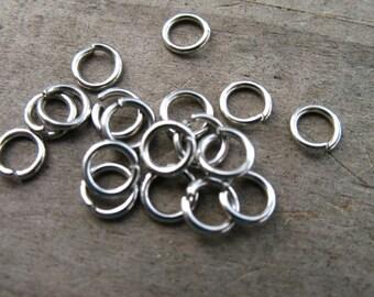 150 5mm Stainless Steel Jump Rings Open  20 Gauge