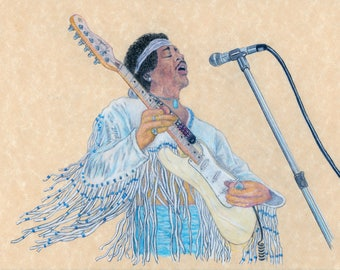 Jimi Hendrix in Action