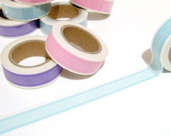 Aqua Lace Washi Tape, Planner Washi Tape, Aqua Lace Washi Tape 15mm x 10mt, Decorative Tape, Card Making, DIY Paper Crafts, Craft Tape