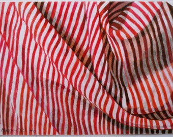 Colored Pencil Drawing Fabric