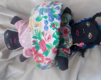 Topsy Turvy Doll of girl & Mother Child