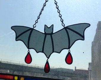 Midnight Bat - Stained Glass - Handmade