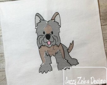 Yorkie sketch embroidery design - Yorkshire Terrier sketch embroidery design - dog sketch embroidery design - dog embroidery design - Yorkie