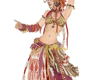 Red Belly Dancer [A5 size]