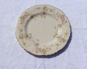 Dinner plates Syracuse China Federal shape Stansbury pattern gold trim 10 inch pink floral cream background price is for ONE plate. & Syracuse china | Etsy