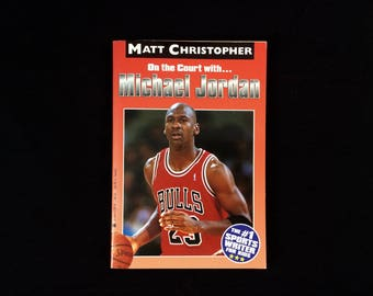 On the Court with Michael Jordan - Vintage Paperback NBA Book